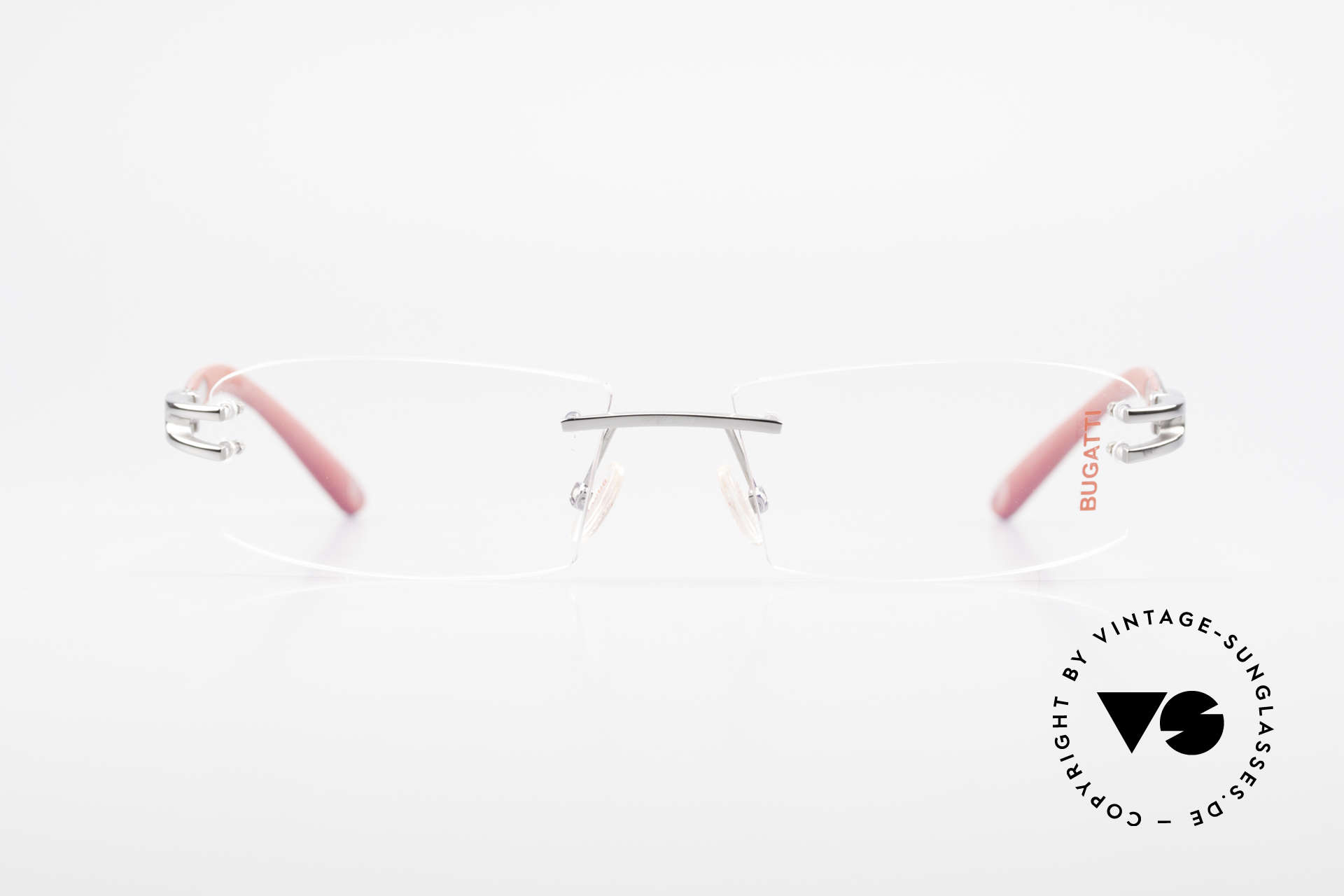 Bugatti 464 Rimless Eyeglasses Ruthenium, sporty frame and lens design ... striking masculine, Made for Men