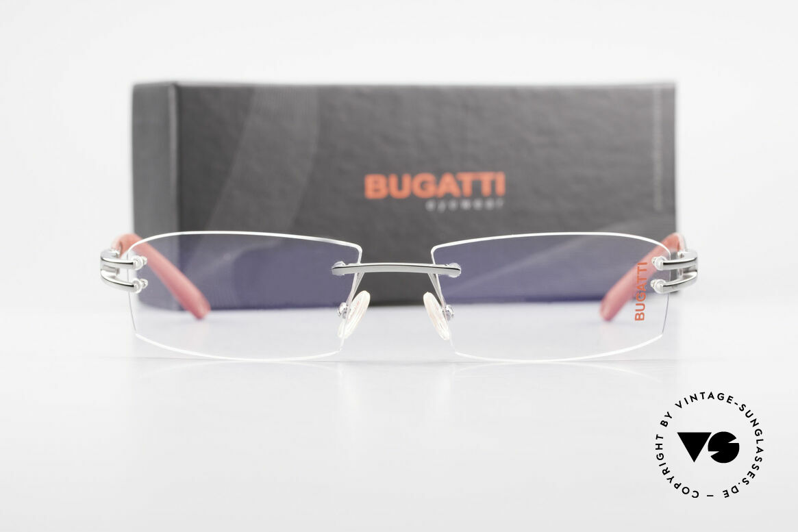 Bugatti 464 Rimless Eyeglasses Ruthenium, Size: medium, Made for Men