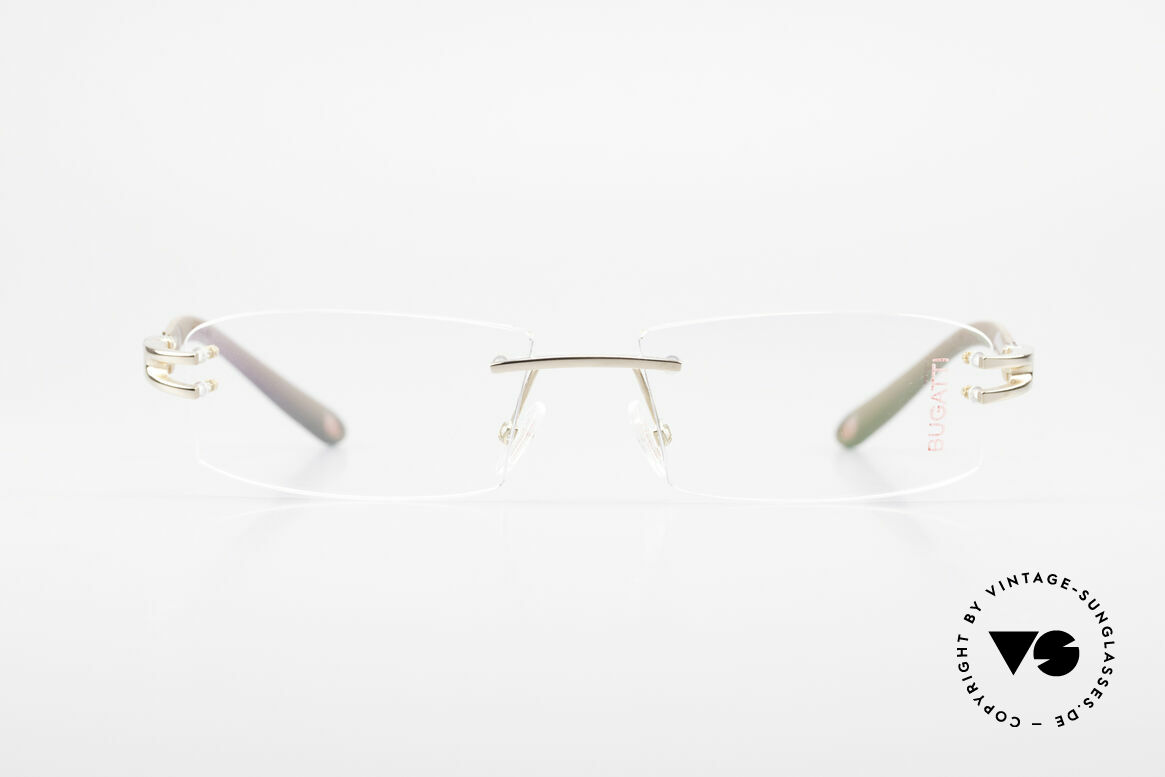 Bugatti 464 Rimless Glasses Carbon Gold, sporty frame and lens design ... striking masculine, Made for Men