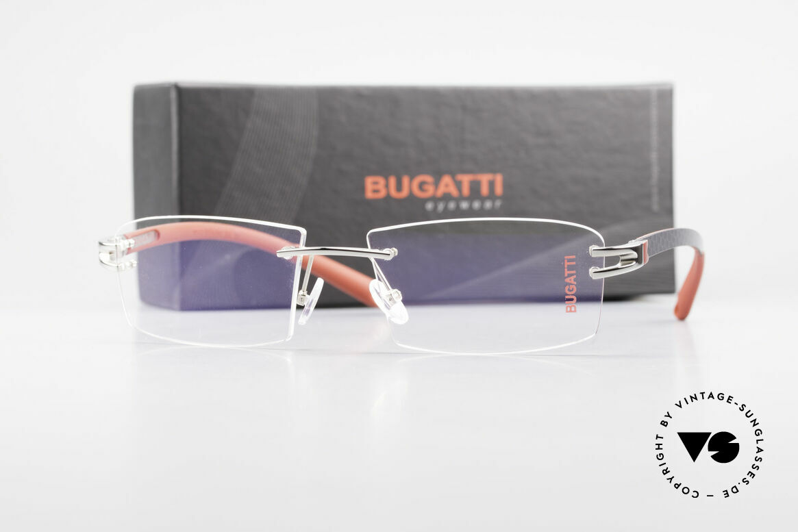 Bugatti 465 Rimless Luxury Specs Palladium, Size: large, Made for Men