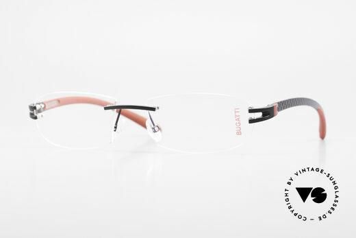 Bugatti 466 Luxury Rimless Glasses Carbon Details