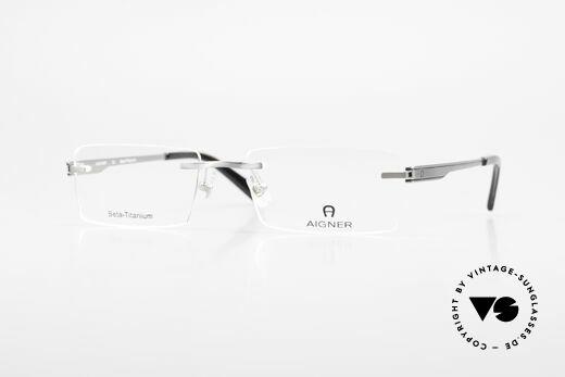 Aigner EA1023 Rimless Vintage Glasses Titan Details