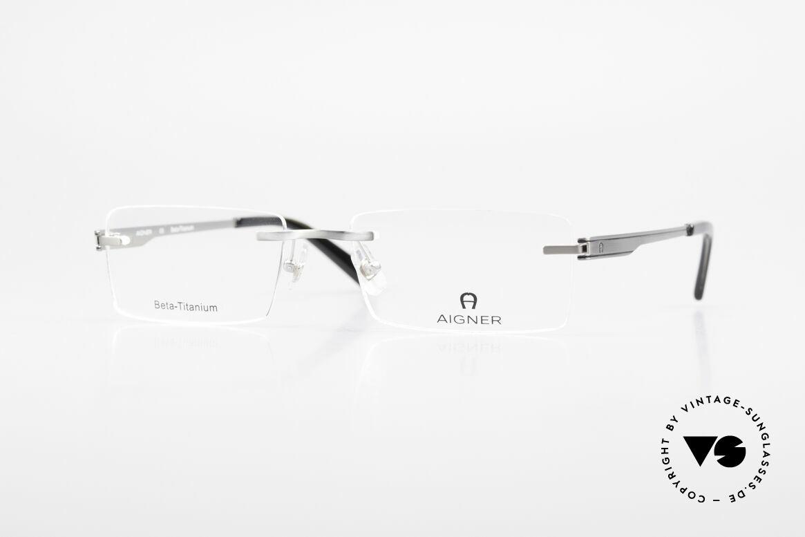 Aigner EA1023 Rimless Vintage Glasses Titan, AIGNER vintage designer glasses of the 90's, size 55/18, Made for Men