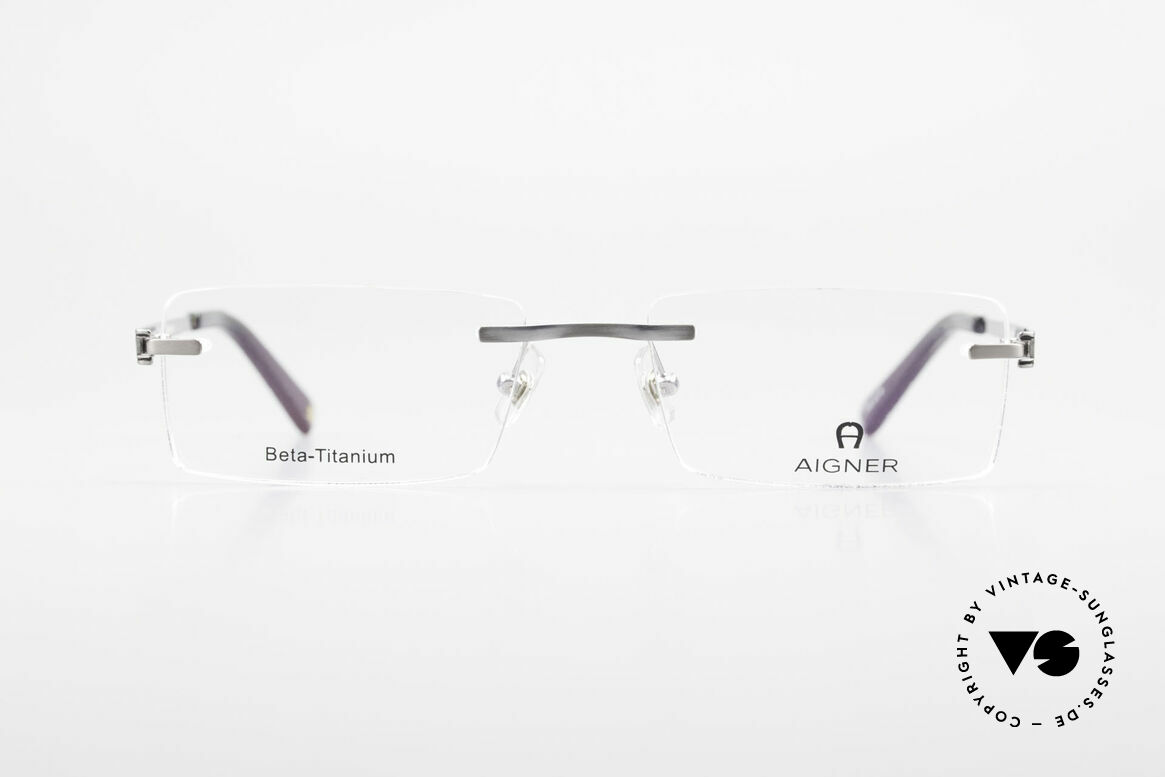 Aigner EA1023 Rimless Vintage Glasses Titan, noble 'TITANIUM' frame; rimless and made in Germany, Made for Men