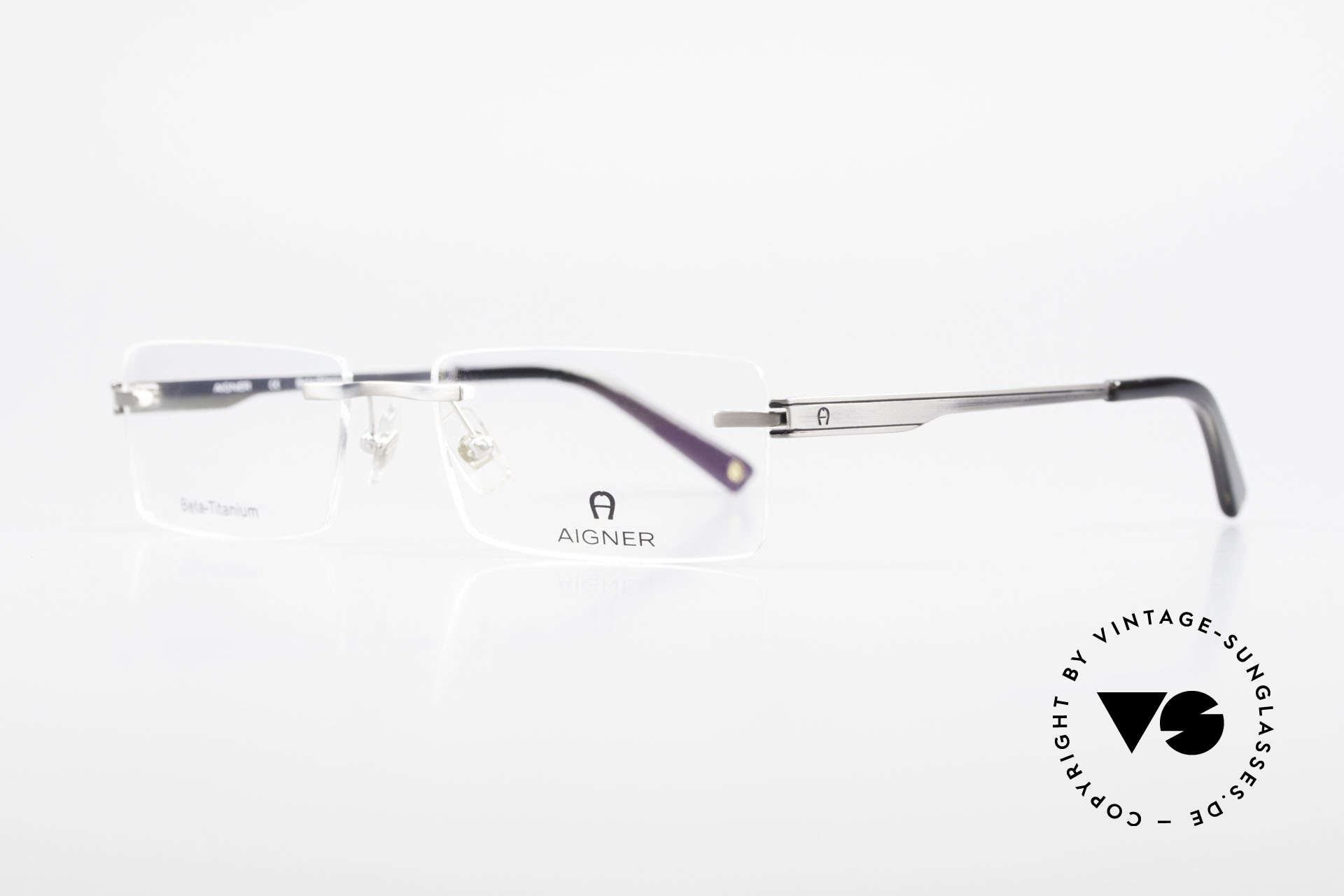 Aigner EA1023 Rimless Vintage Glasses Titan, top-notch quality and very pleasant to wear; lightweight, Made for Men