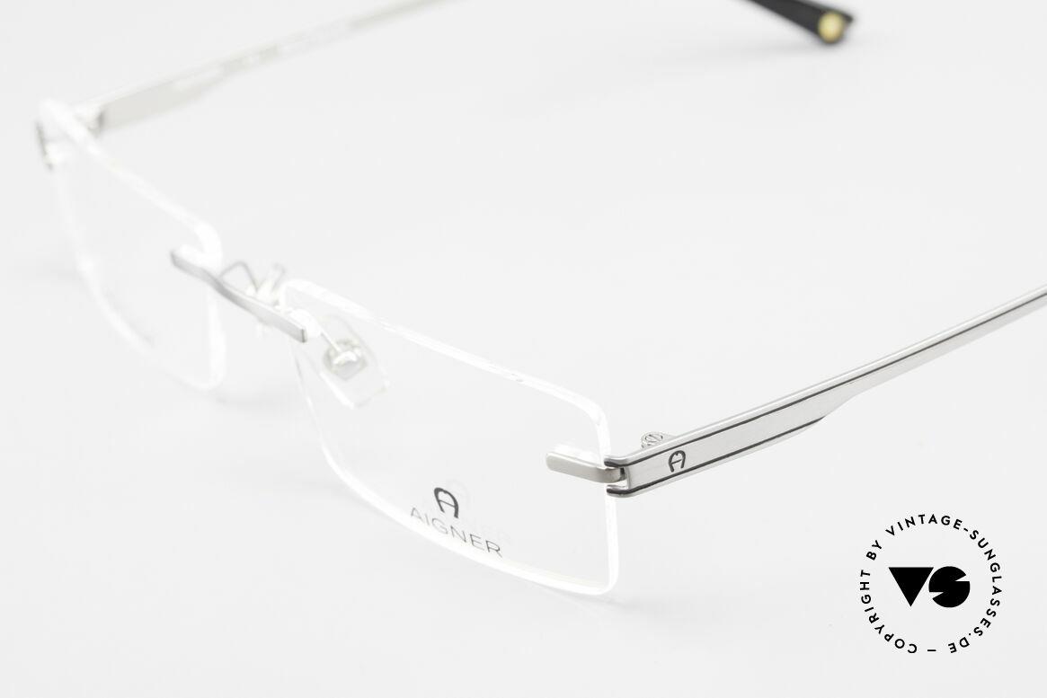 Aigner EA1023 Rimless Vintage Glasses Titan, never worn, NOS (like all our rare 90's Aigner eyeglasses), Made for Men