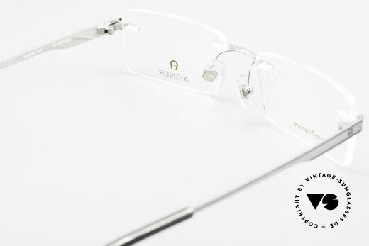 Aigner EA1023 Rimless Vintage Glasses Titan, demos can replaced with optical or sun lenses optionally, Made for Men