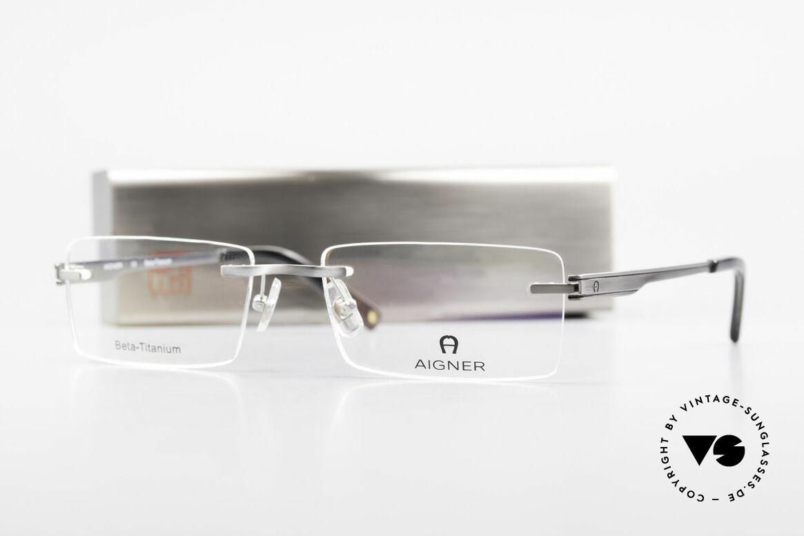 Aigner EA1023 Rimless Vintage Glasses Titan, Size: medium, Made for Men