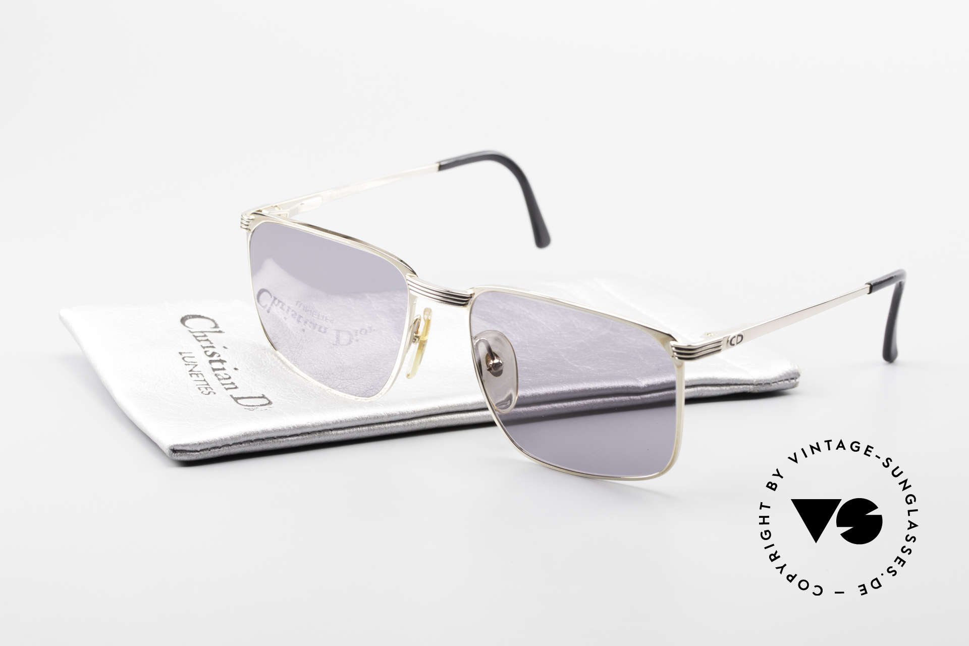 Christian Dior 2728 80's Gentlemen's Sunglasses, gray sun lenses could be replaced with optical lenses, Made for Men