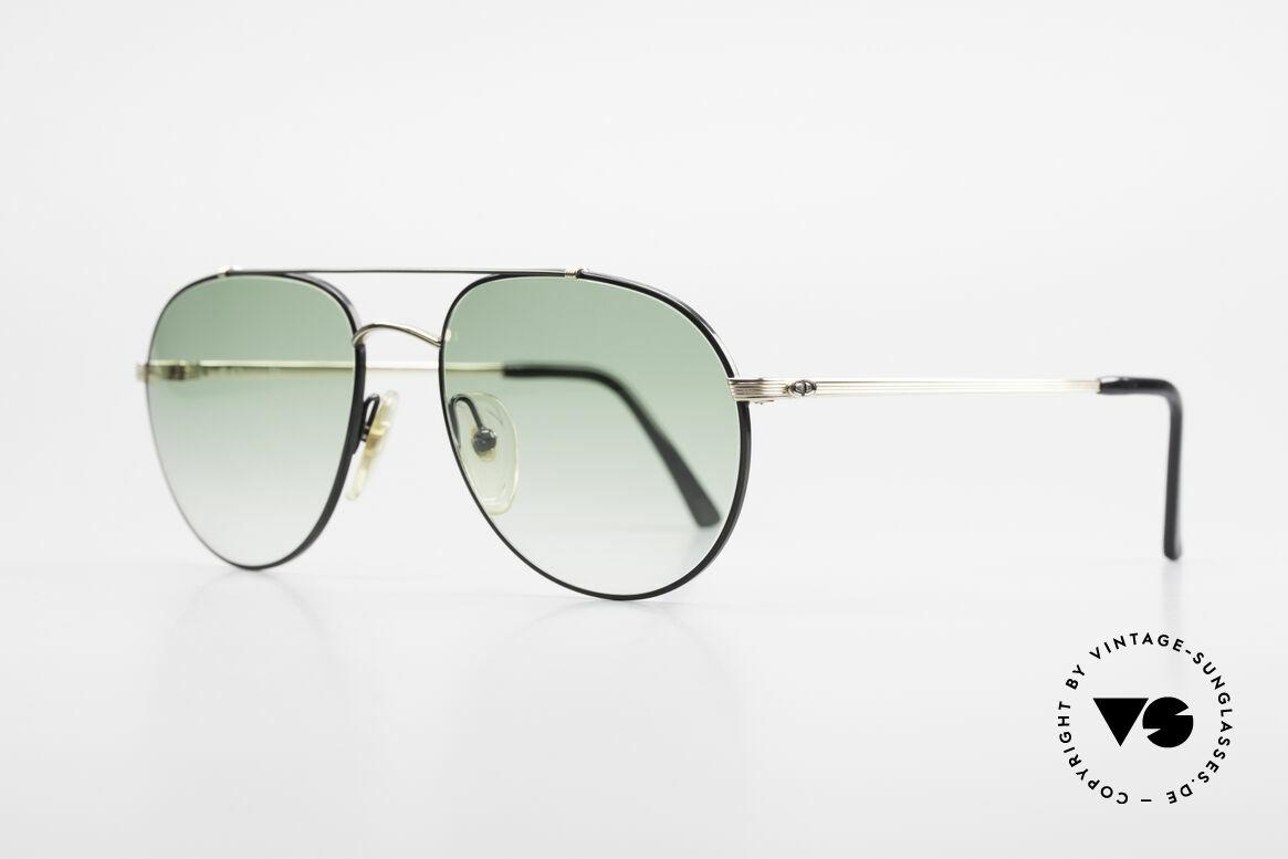 Christian Dior 2488 Rare 80's Aviator Sunglasses, noble green-gradient lenses: 100% UV protection, Made for Men