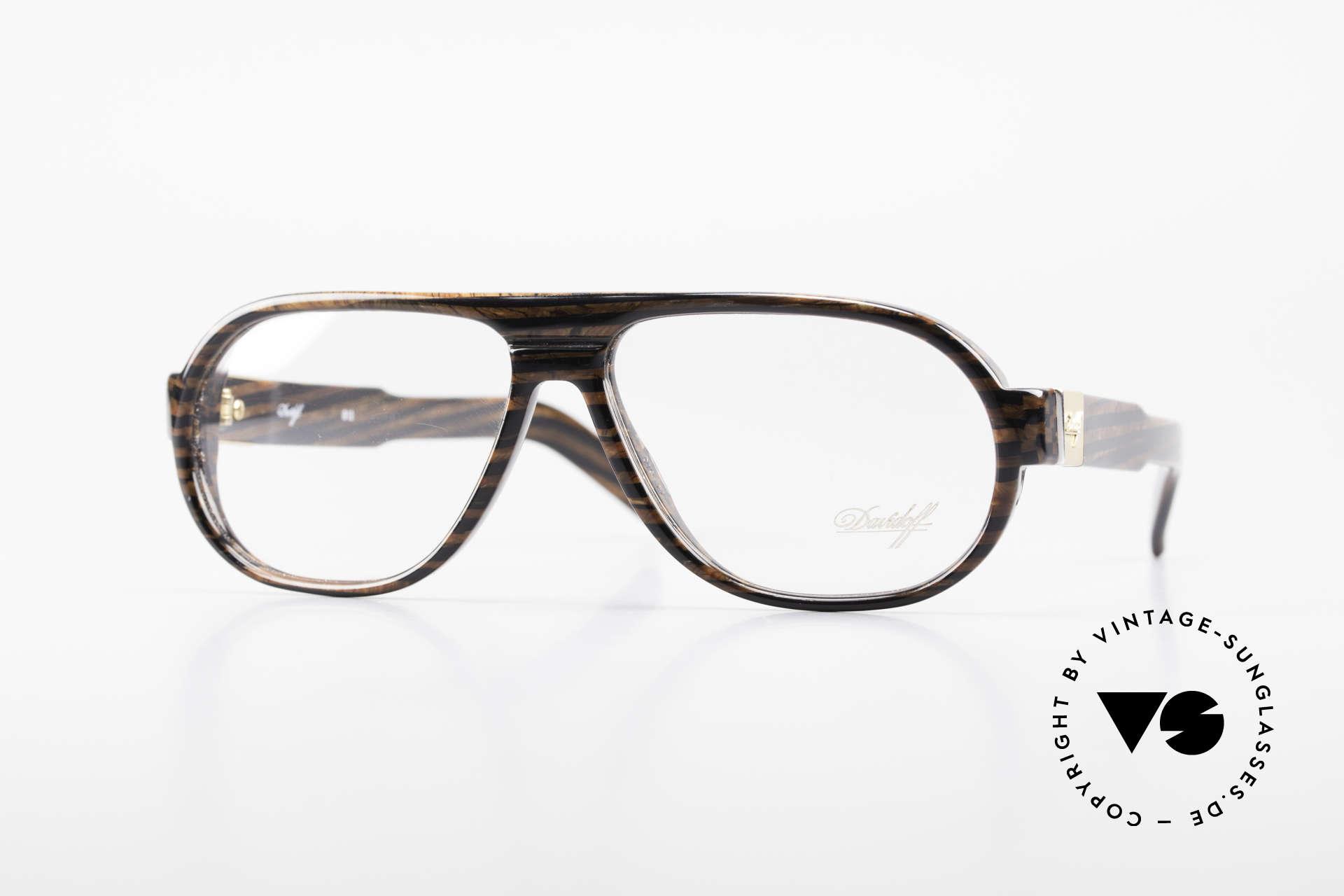 Davidoff 100 90's Men's Vintage Glasses, rare and very elegant eyeglasses-frame by DAVIDOFF, Made for Men