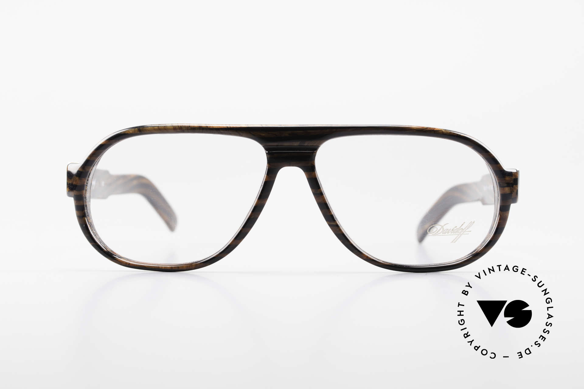 Davidoff 100 90's Men's Vintage Glasses, precious 90's ORIGINAL with noble root-wood pattern, Made for Men