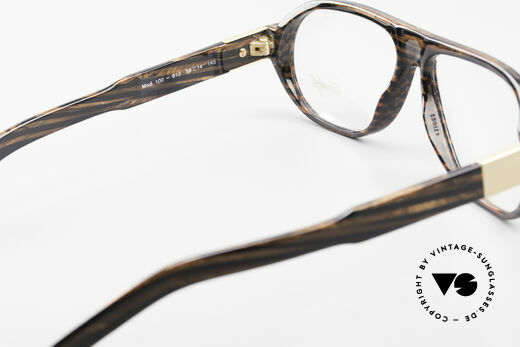 Davidoff 100 90's Men's Vintage Glasses, demo lenses can be replaced with optical (sun) lenses, Made for Men