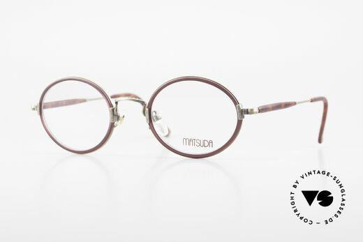 Matsuda 2834 Oval Round 90's Eyeglass-Frame Details
