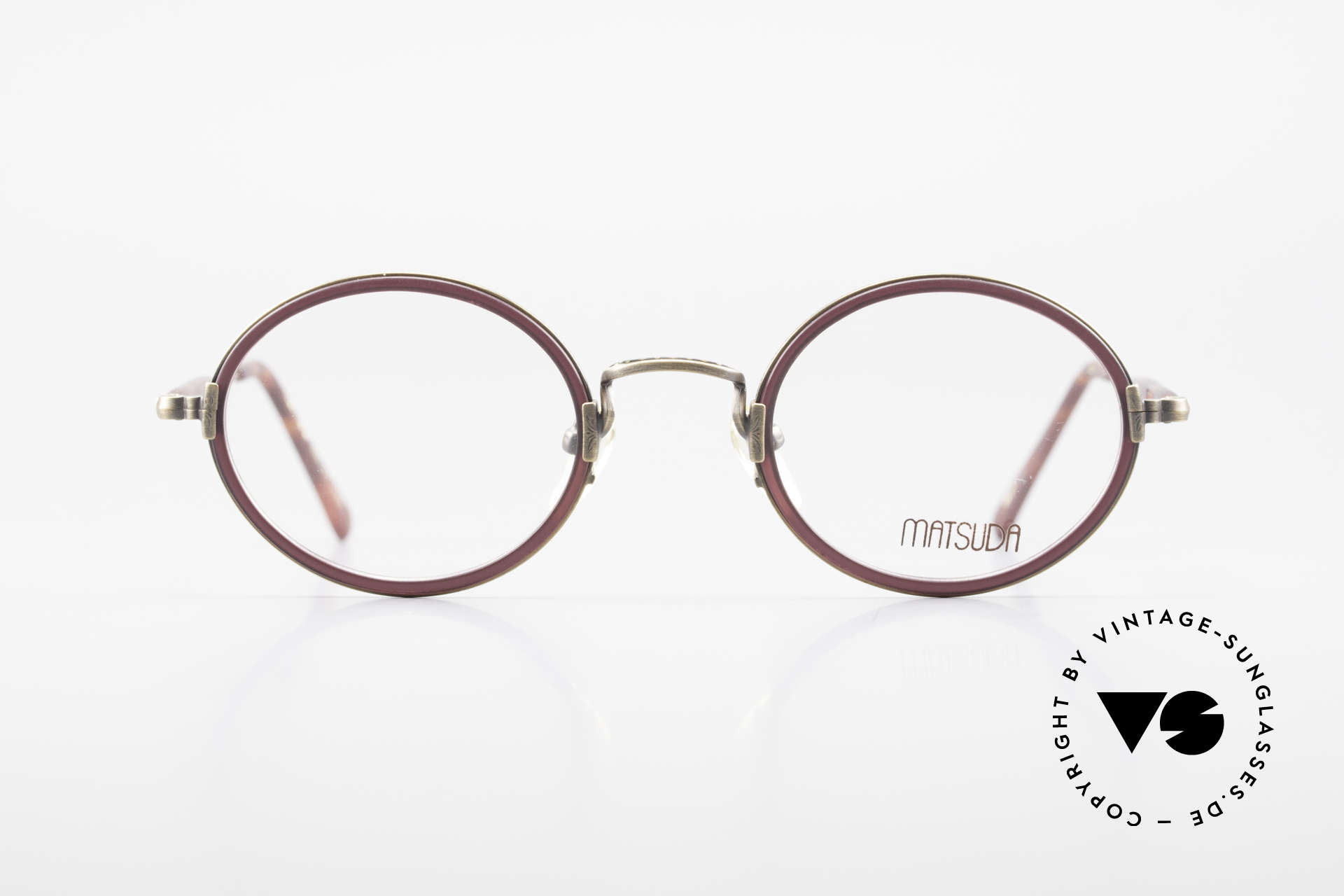 Matsuda 2834 Oval Round 90's Eyeglass-Frame, MATSUDA = a synonym for elaborate craftsmanship, Made for Men and Women