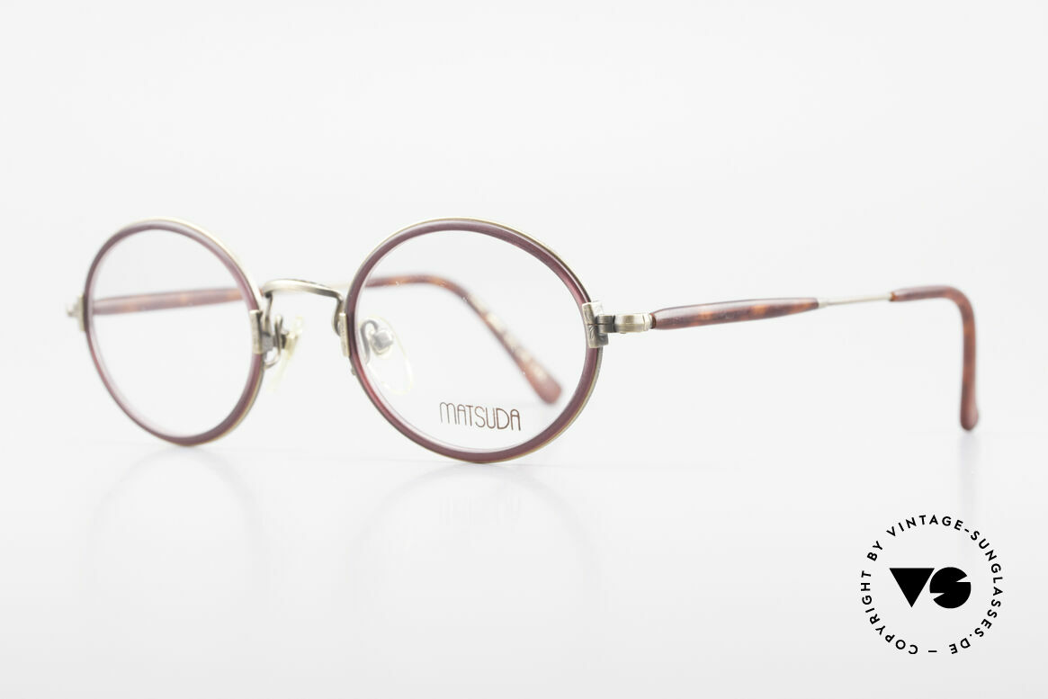 Matsuda 2834 Oval Round 90's Eyeglass-Frame, full frame with attention to details; simply perfect, Made for Men and Women