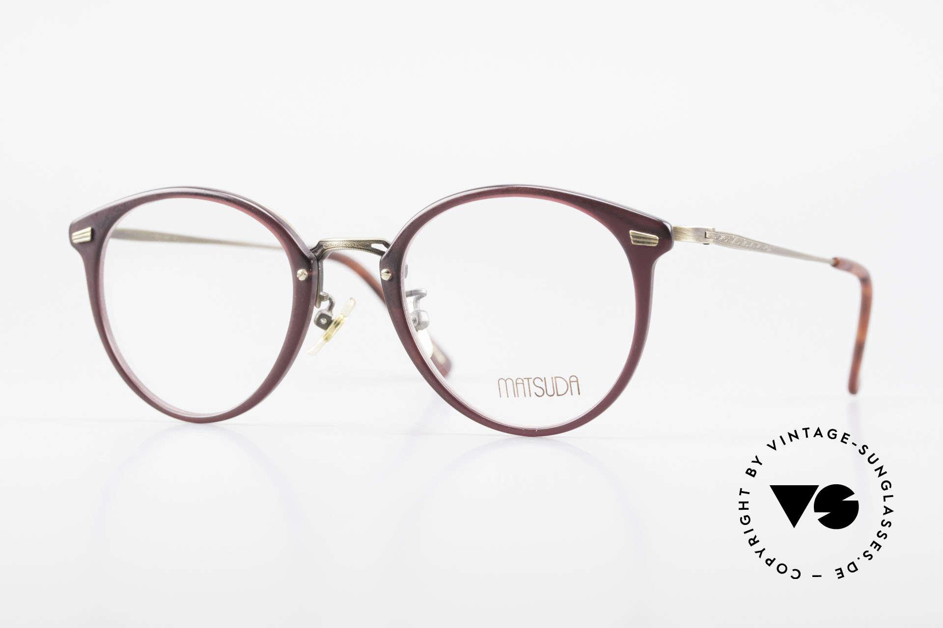 Matsuda 2836 Panto Style 90's Eyeglass-Frame, 90's vintage designer eyeglasses by Matsuda, Japan, Made for Men and Women