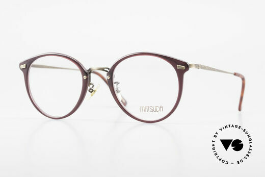 Matsuda 2836 Panto Style 90's Eyeglass-Frame Details