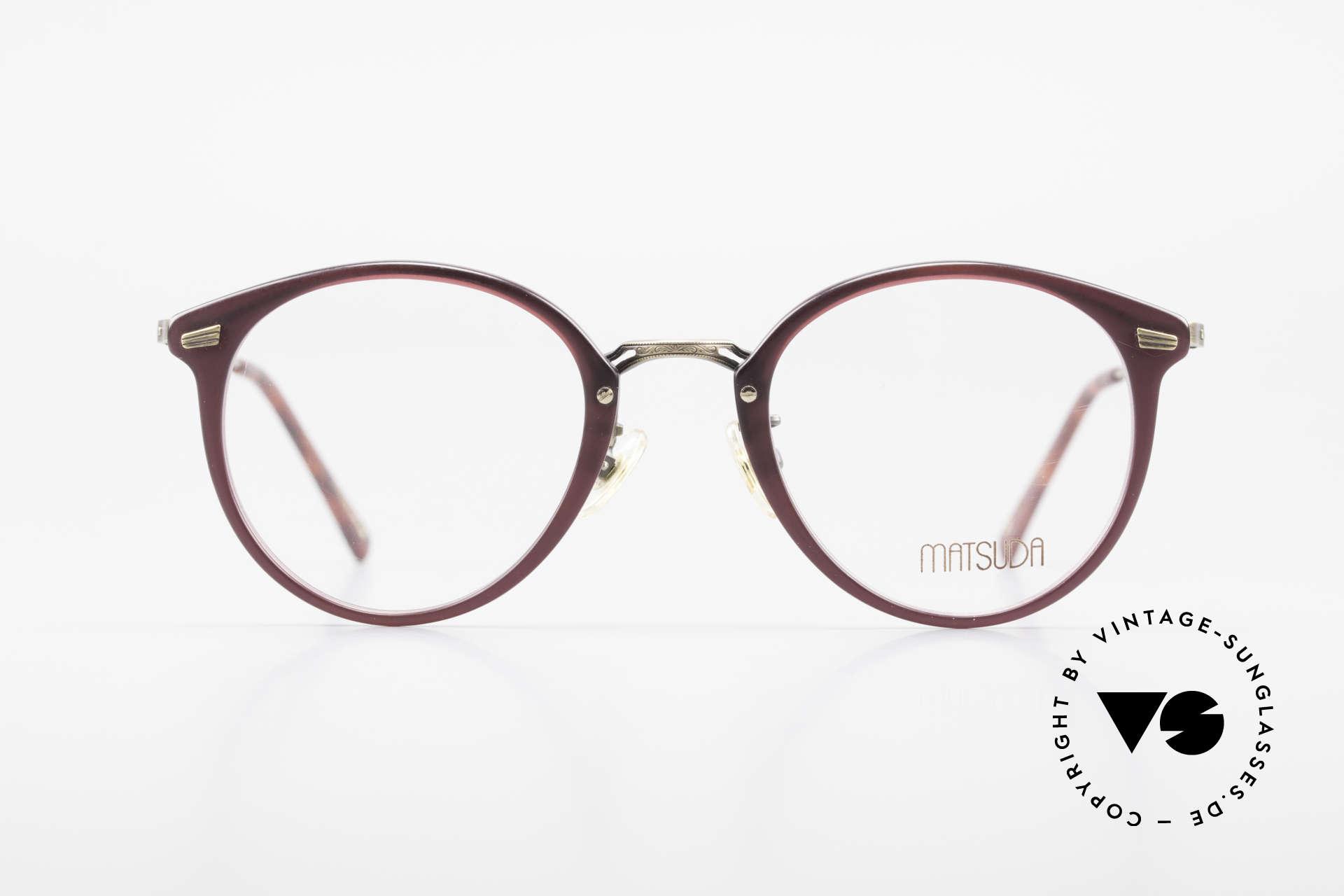 Matsuda 2836 Panto Style 90's Eyeglass-Frame, MATSUDA = a synonym for elaborate craftsmanship, Made for Men and Women