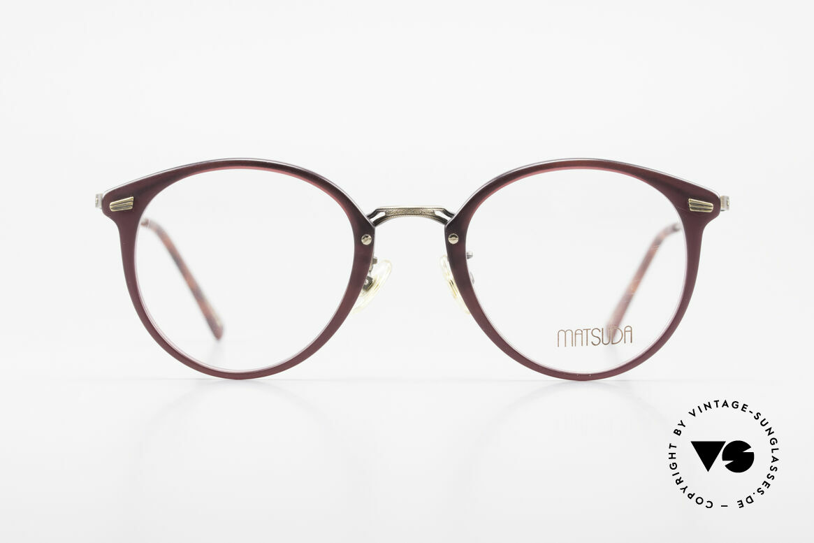 Matsuda 2836 Panto Style 90's Eyeglass-Frame, MATSUDA = a synonym for elaborate craftsmanship, Made for Men and Women