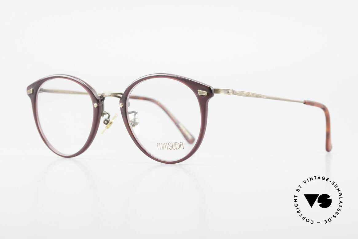 Matsuda 2836 Panto Style 90's Eyeglass-Frame, full frame with attention to details; simply perfect, Made for Men and Women