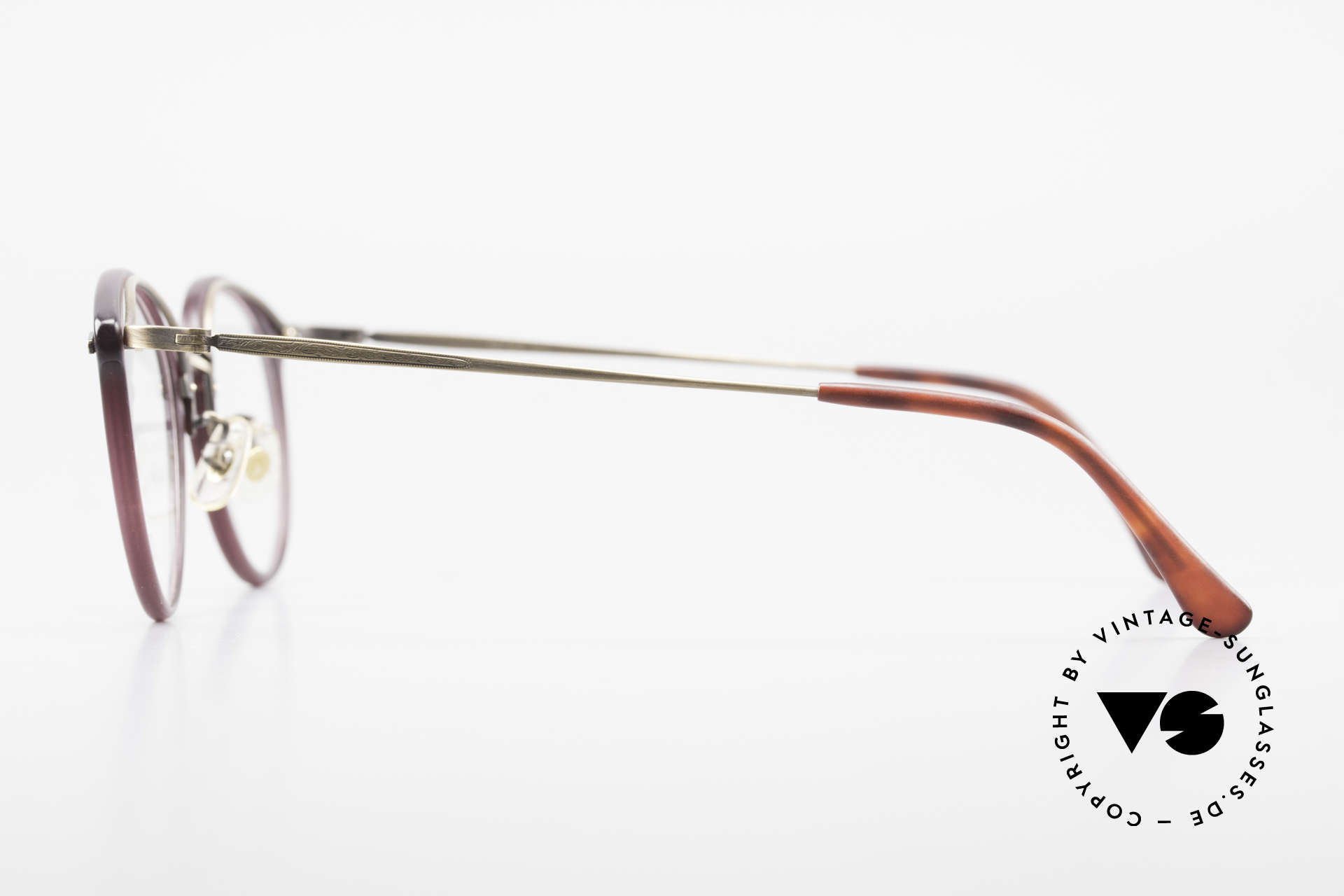 Matsuda 2836 Panto Style 90's Eyeglass-Frame, demo lenses can be easily replaced with prescriptions, Made for Men and Women