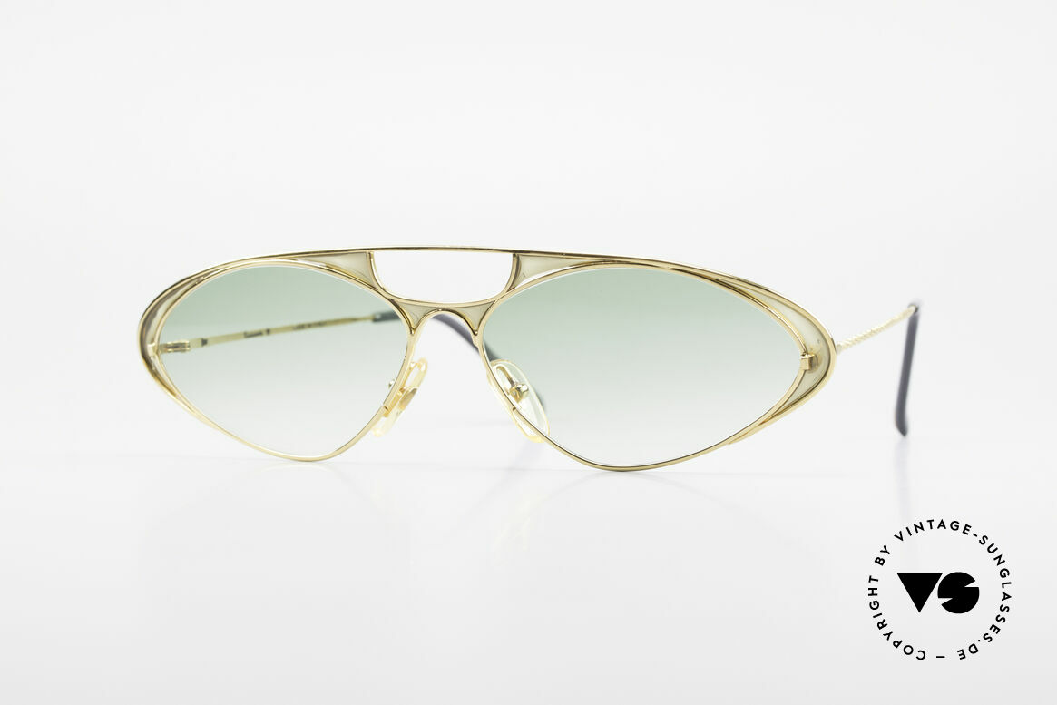 Casanova LC8 Murano Glass Luxury Shades, glamorous CASANOVA sunglasses from around 1985, Made for Women