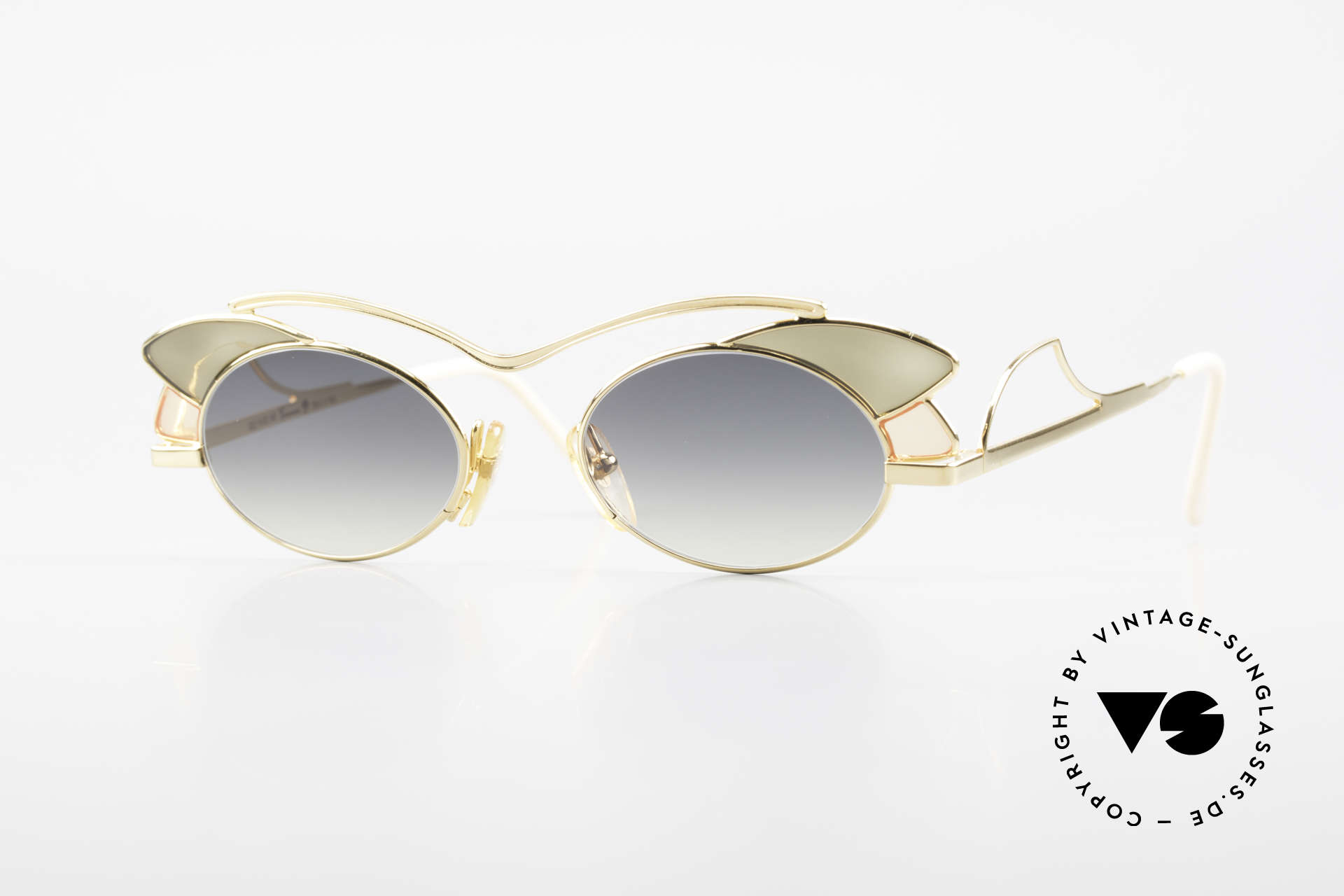 Casanova LC1 24kt Gold Plated Murano Glass, glamorous CASANOVA sunglasses from around 1985, Made for Women