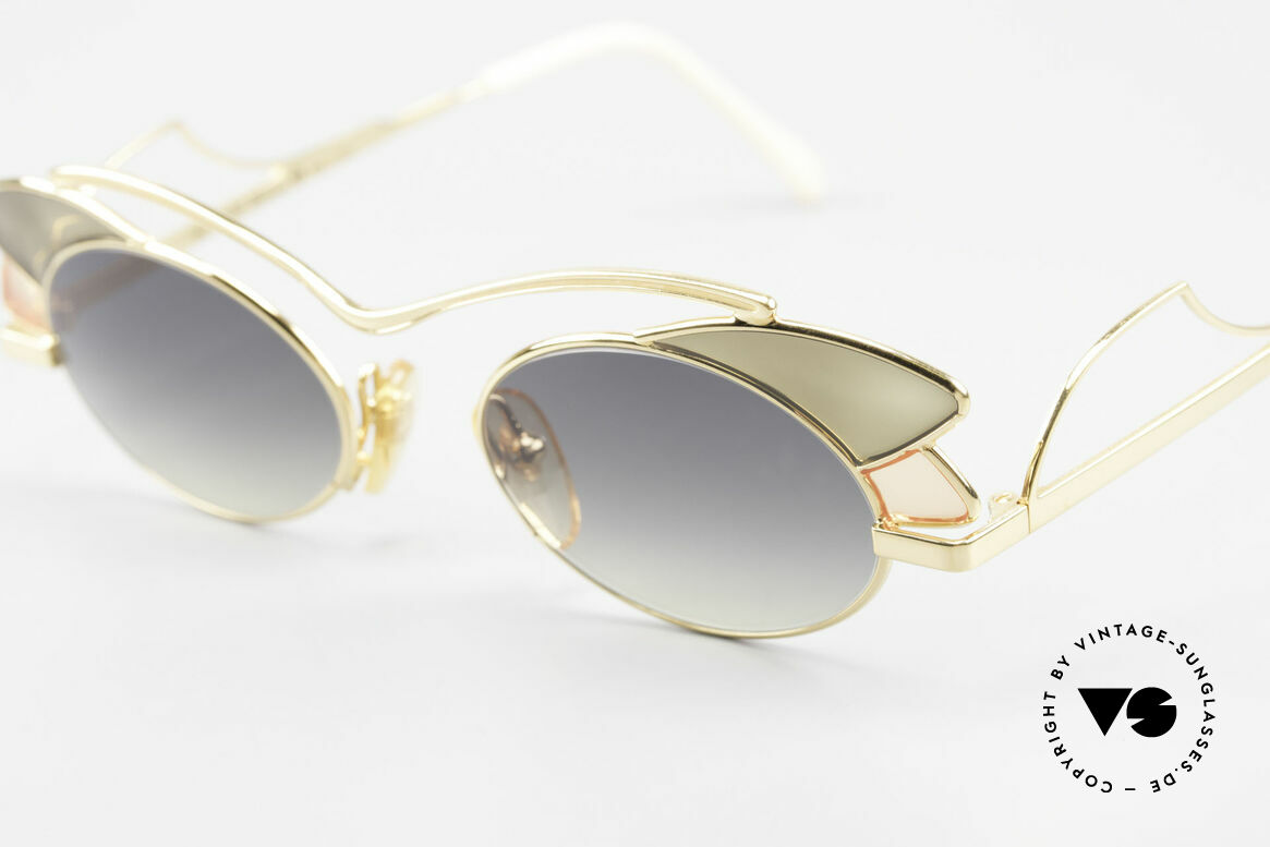 Casanova LC1 24kt Gold Plated Murano Glass, NOS - unworn (like all our artistic vintage sunglasses), Made for Women