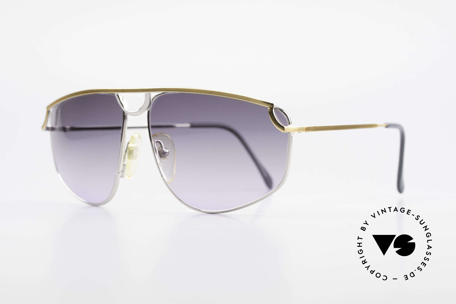 Casanova DSC9 Rare Aviator Style Sunglasses, gray-purple gradient lenses (eye-catching; 100% UV), Made for Men and Women