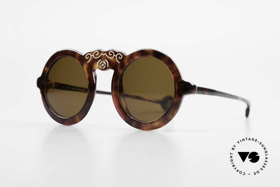 Laura Biagiotti V93 Shangai True Vintage 70's Sunglasses, uniquely patterned frame (see photos) - just fancy, Made for Women