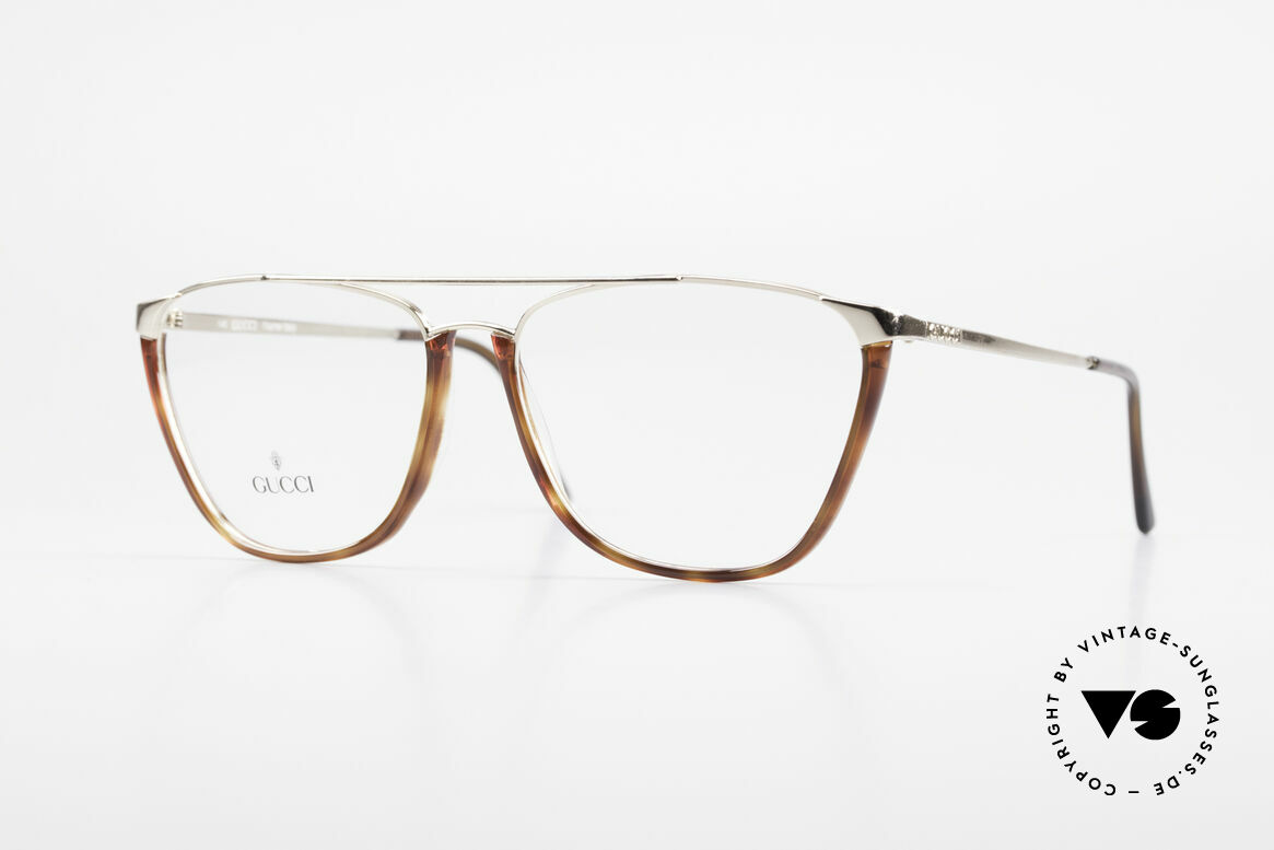 Gucci 1308 90's Designer Eyeglass-Frame, vintage GUCCI luxury eyeglasses from Italy, Made for Men and Women