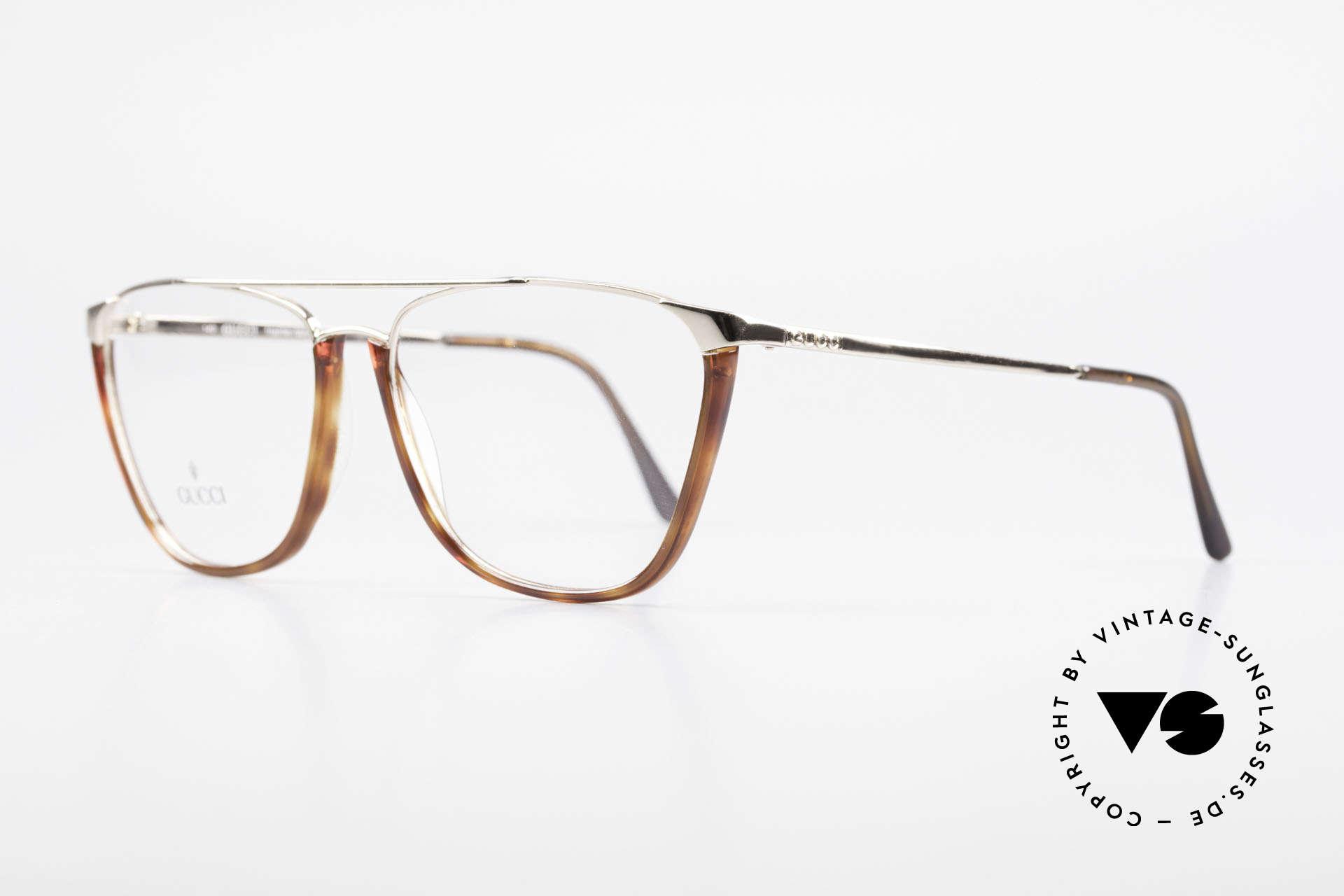 Gucci 1308 90's Designer Eyeglass-Frame, noble timeless design (gold-plated / tortoise), Made for Men and Women