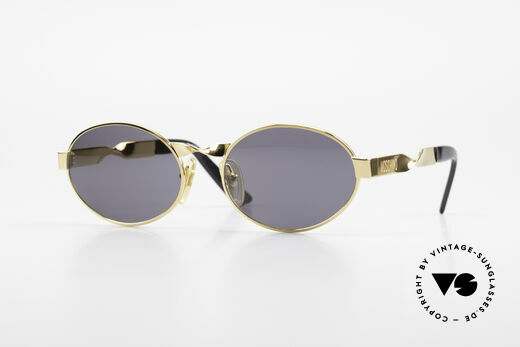 Moschino M29 Twisted Oval Sunglasses Rare Details