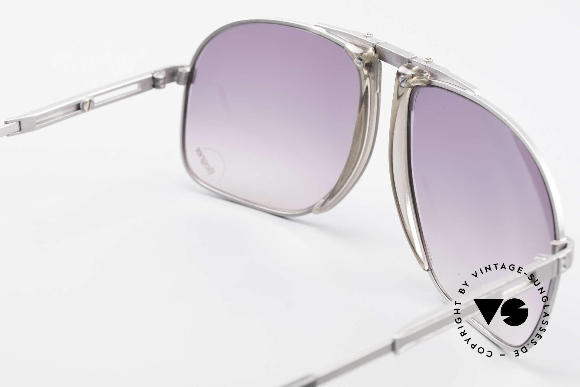 Willy Bogner 7023 Adjustable Sunglasses 80's, NO RETRO, but a rare 80's ORIGINAL (+ case by Bogner), Made for Men