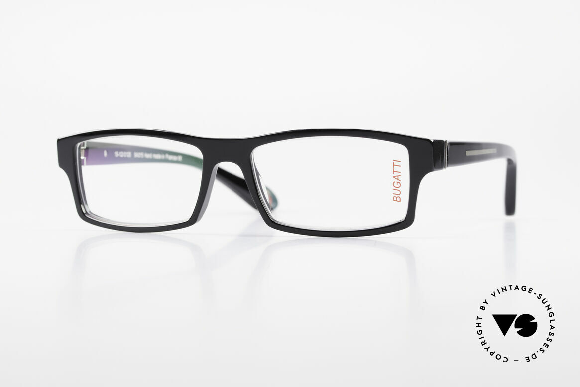 Bugatti 486 Striking Square Men's Glasses, striking high-tech eyeglass-frame by BUGATTI, Made for Men