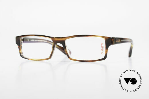Bugatti 486 Square Luxury Men's Glasses Details