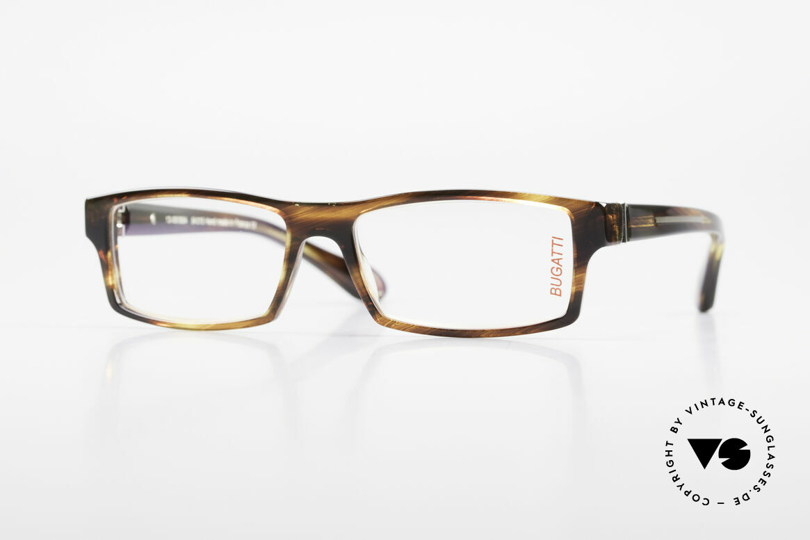 Bugatti 486 Square Luxury Men's Glasses, striking high-tech eyeglass-frame by BUGATTI, Made for Men
