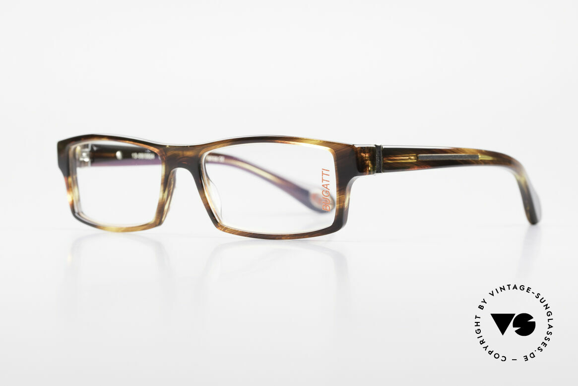 Bugatti 486 Square Luxury Men's Glasses, 1. class wearing comfort thanks to spring hinges, Made for Men