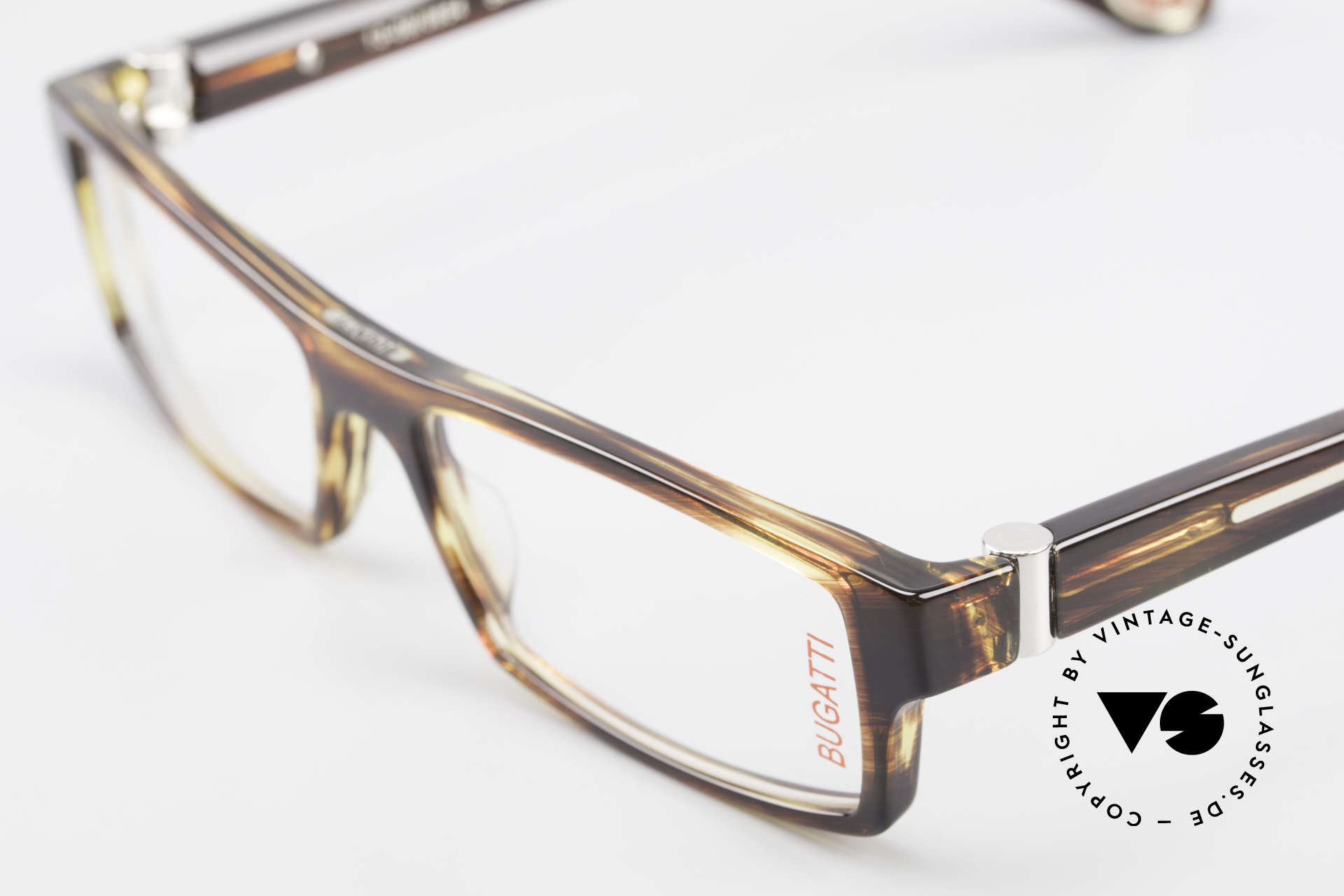 Bugatti 486 Square Luxury Men's Glasses, true rarity (limited-lot production by Bugatti), Made for Men