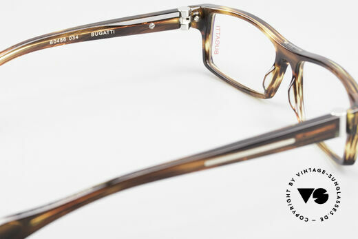 Bugatti 486 Square Luxury Men's Glasses, the frame (size 54/15) can be glazed optionally, Made for Men
