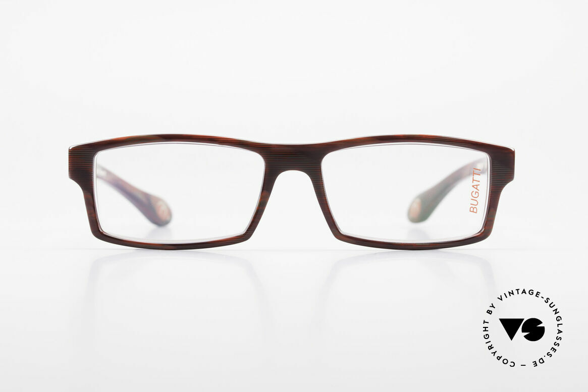Bugatti 486 Square Men's Designer Glasses, TOP-NOTCH QUALITY of all frame components, Made for Men