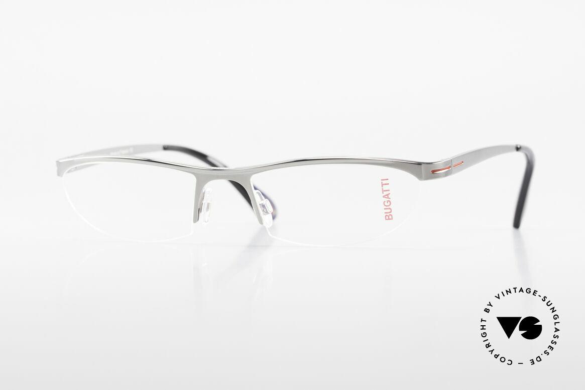 Bugatti 497 Ruthenium Vintage Eyeglasses, Bugatti glasses, model 497, 24, L, size 55/19, Made for Men