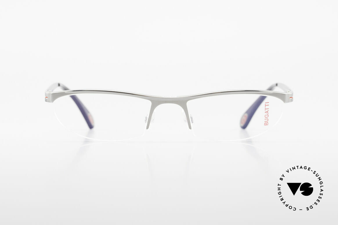 Bugatti 497 Ruthenium Vintage Eyeglasses, characteristical design of the Odotype Series, Made for Men