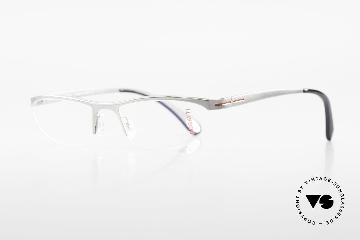 Bugatti 497 Ruthenium Vintage Eyeglasses, ergonomic frame with flexible spring hinges, Made for Men
