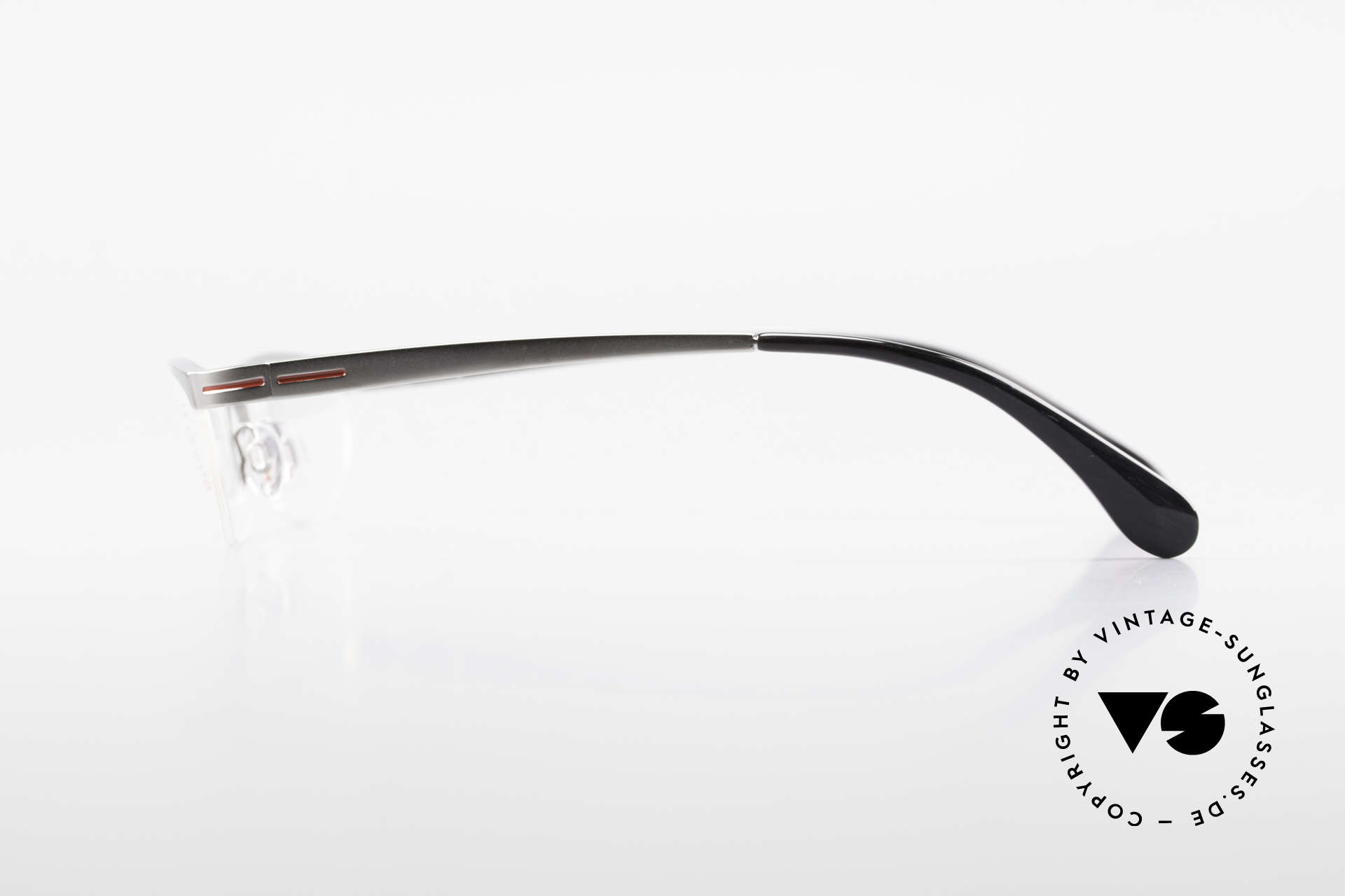 Bugatti 497 Ruthenium Vintage Eyeglasses, satin-ruthenium finish = pure luxury glasses, Made for Men