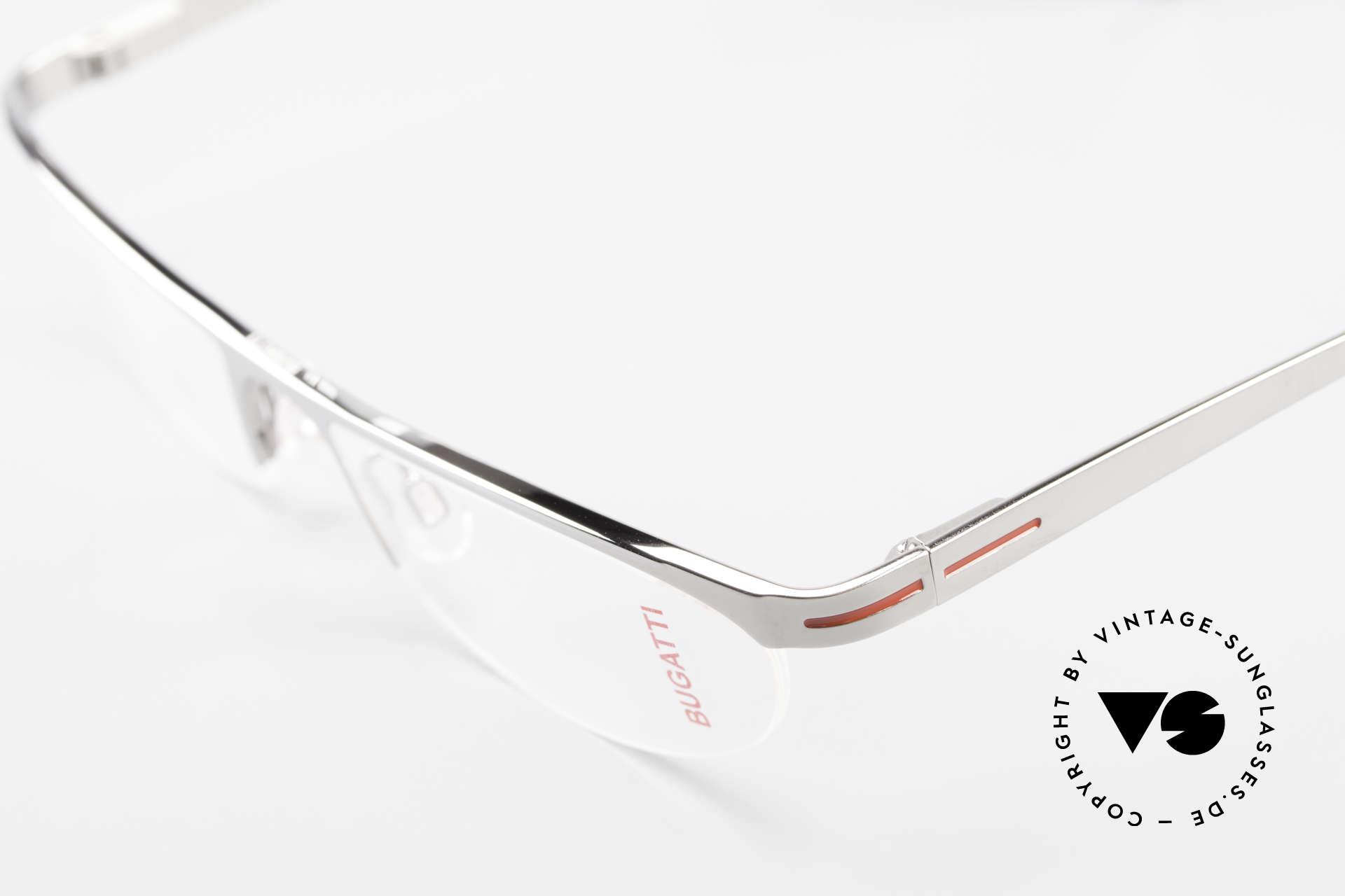 Bugatti 497 Ruthenium Vintage Eyeglasses, unworn rarity of the old Bugatti small batch, Made for Men