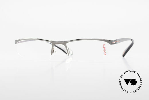 Bugatti 495 Ruthenium Eyeglasses Luxury Details
