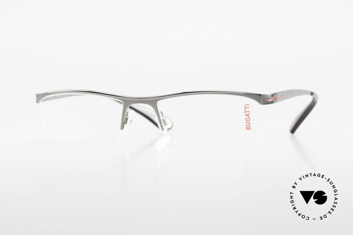 Bugatti 495 Ruthenium Eyeglasses Luxury, Bugatti glasses, model 495, 24, L, size 55/19, Made for Men