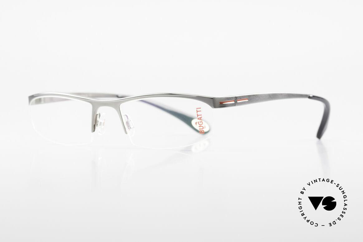 Bugatti 495 Ruthenium Eyeglasses Luxury, ergonomic frame with flexible spring hinges, Made for Men